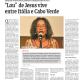 """""""Lou""""  de Jesus vive entre Itália e Cabo Verde - A Nação, 19 de Novembro de 2020"""